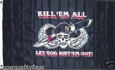 KILL EM ALL LET GOD SORT EM OUT SPECIAL FORCES ARMY MILITARY NEW 3X5 ft FLAG  au