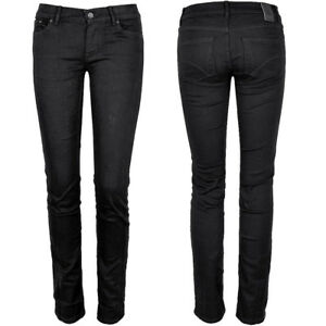 Adidas-Damen-Roehren-Jeans-Skinny-Strech-Hose-Jeggings-Hueftjeans-schwarz-XS-S-M