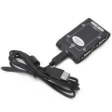 9pin USB 2.0 to 4 ports RS232 Serial DB9 COM Controller Connectors Adapter Hub