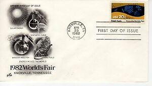 FDC - Fossil Fuels - Knoxville - Apr 29th - 1982 - Premier jour