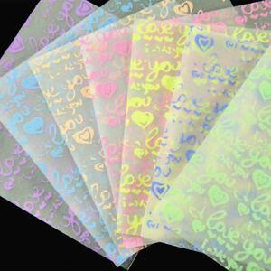 DIY-Square-Love-Pattern-Noctilucan-Origami-Hand-Paper-Handmade-Paper-Craft