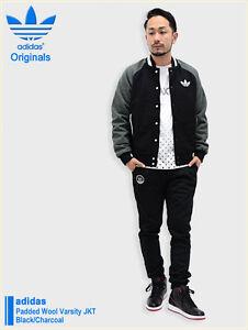 5c826b310ef BB BNWT Men s Adidas Originals Padded Wool Varsity Coat Down Black ...