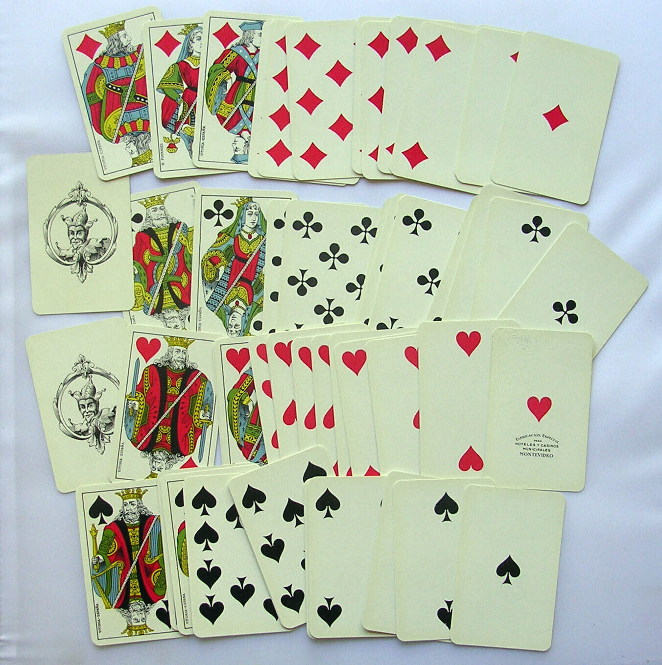VINTAGE BARAJA JUEGO NAIPES COMPLETO PLAYING CARDS HOTELES CASINOS MONTEVIDEO