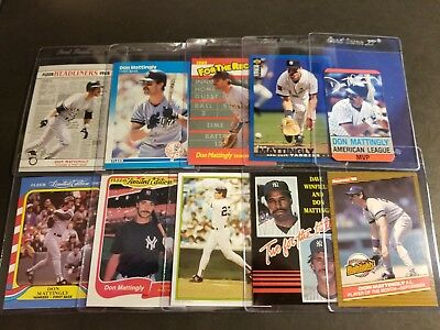 Lot of 10 Don Mattingly cards!
