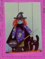 Wood & Fabric Paint Craft Pattern Halloween 10 Tall Cat & 25 Tall Witch