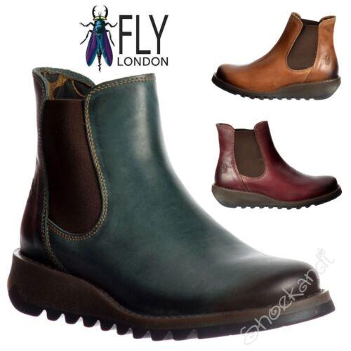 Chaussures femme fly london salv cuir chelsea bottines talon bas couleurs assort
