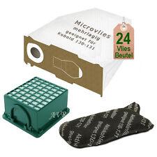 24 Staubsaugerbeutel Vlies 2 Filter passt für Vorwerk Staubsauger Kobold 130 131