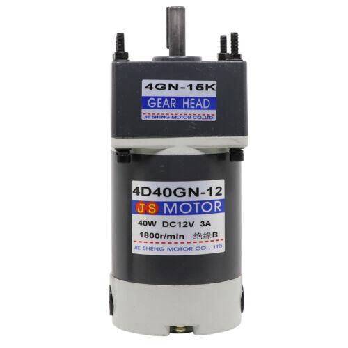 15W-300W DC12V//24V Gear Motor Worm Gear Gearbox Worm Gear Reducer RV Motor New
