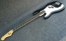 S101 VINTAGE STYLE LEFT HANDED P BASS  A PRECISION LEFTY JET BLACK PRO QUALITY