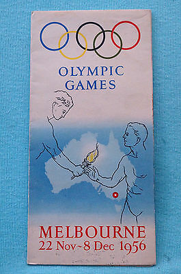 Olympic Games - Melbourne - 1956 - Brochure - Map - Events