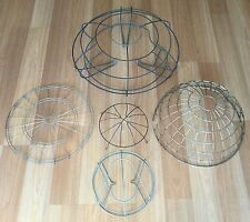 OLD VTG METAL WIRE CAGE LAMP DART BOARD HEATER SHROUD REPUPOSE ART LOT OF 5