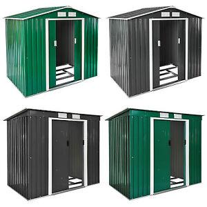 Cobertizo caseta de jardín metálica metal invernadero almacén + fundación