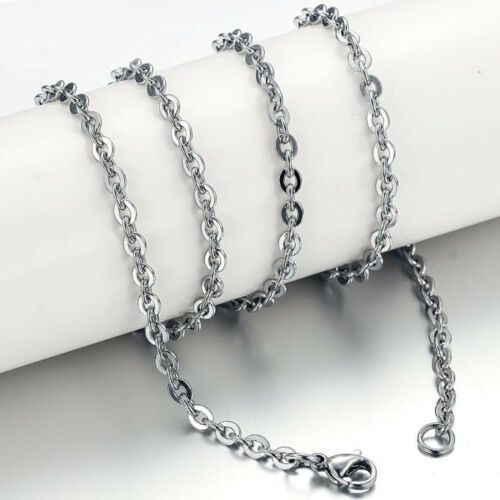 """5pcs 1.6//2//2.4//3mm Stainless Steel Flat /""""O/"""" Rolo Link Chain Necklace Wholesale"""