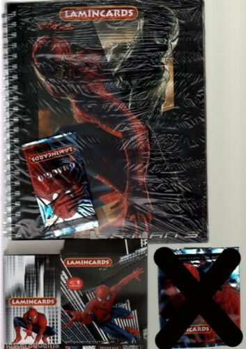 SPIDERMAN 3 LAMINCARDS ALBUM & Complete CARD SET of 100 Edibas 2007 Italy Only