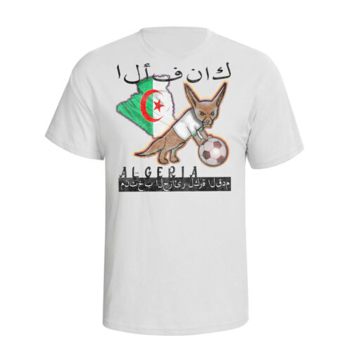 Algeria Africa Cup of Nations 2019 Football Mascot T-Shirt MENS LADIES KIDS Top