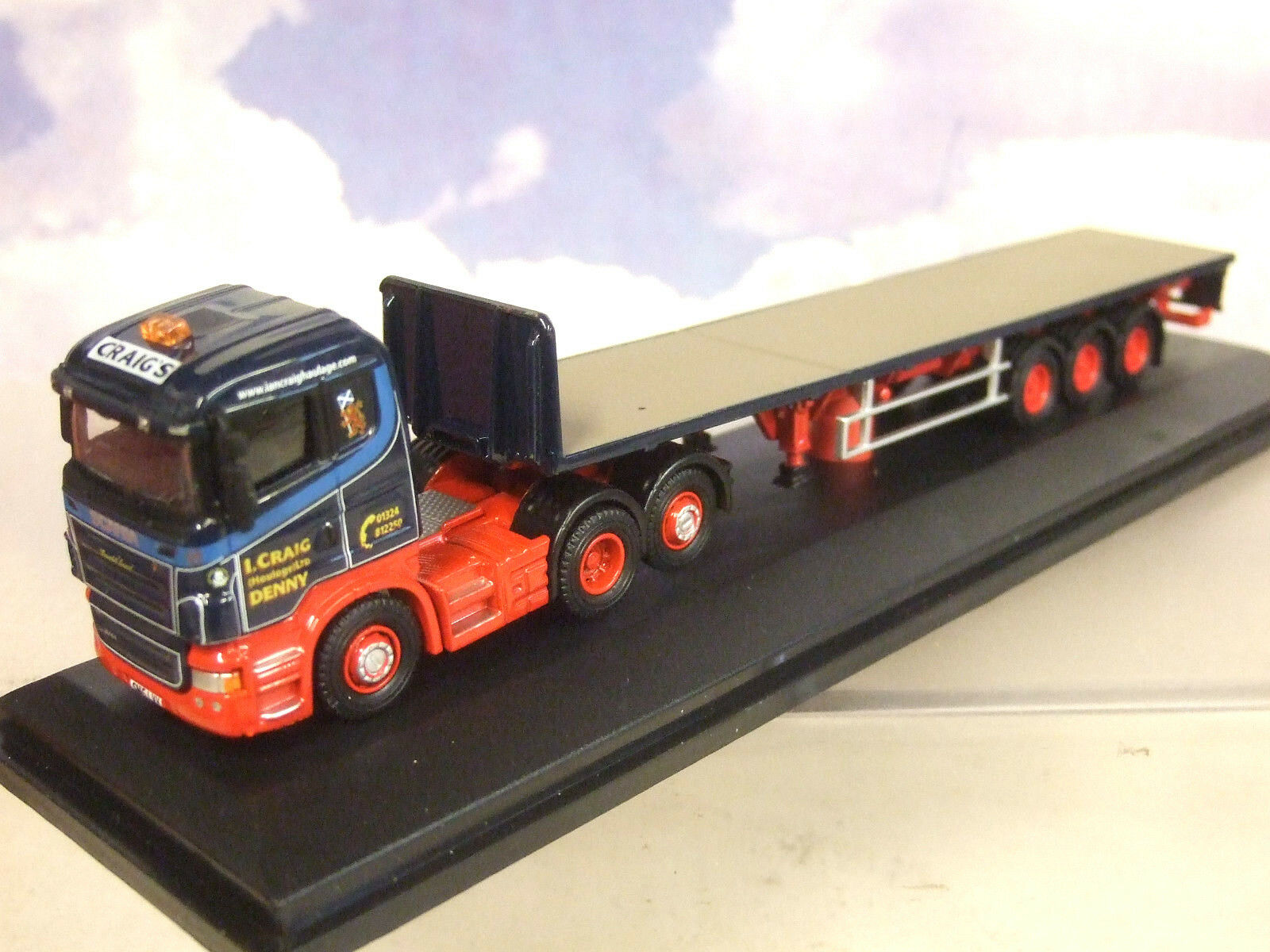Oxford 1 76 Scania Highline & Benne Remorque Ian Graig Transport Routier Denny