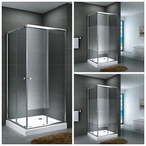 Duschkabine-Eckdusche-Duschabtrennung-ESG-Duschtasse-Glas-Quadrat-Werra-14-cm