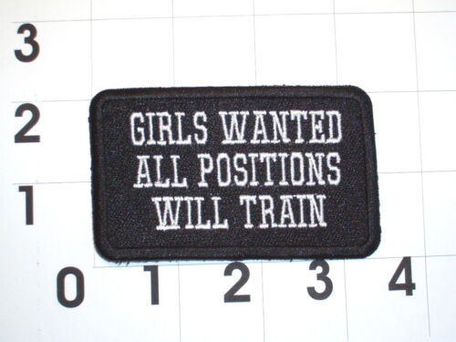 Gilrs Wanted All Positions Will Train  Biker Vest Motorcycle Patch