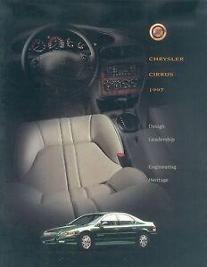 Chrysler-Cirrus-Prospekt-CDN-1997-brochure-Autoprospekt-Auto-Pkw-broschyr-US-Car