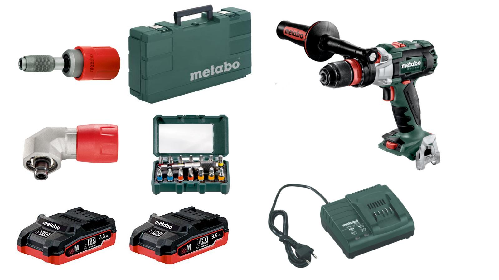 Metabo SB 18 LTX BL Q I Akku-Schlagbohrer Set 2x 3,5 LiHD + SC 60 Ladegerät  79