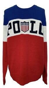 NEW-POLO-RALPH-LAUREN-MEN-039-S-COTTON-USA-SWEATER-M-495