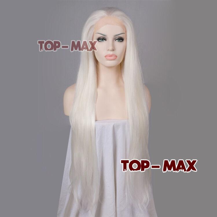 18-39 Inches Weiß Lang TOP Gelatt Frauen Frauen Frauen Heat Resistant Lace Front Wig +Free Cap  | Spielzeugwelt, spielen Sie Ihre eigene Welt  | Gute Qualität  | Modernes Design  | Online Store  | Mangelware  b16204