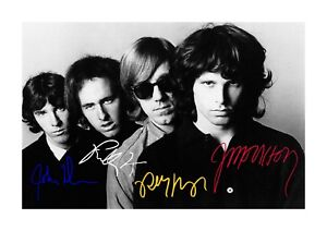 The-Doors-A4-reproduction-signed-photograph-poster-Choice-of-frame