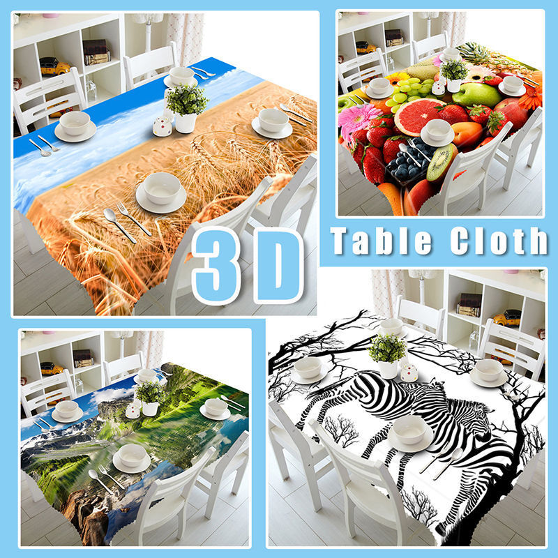 3D Snow Deer 5 Tablecloth Table Cover Cloth Cloth Cloth Birthday Party Event AJ WALLPAPER AU 55bae9