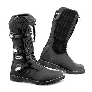 Nuovi-stivali-moto-GIANNI-FALCO-cross-261-EDGE-PRO-enduro-strada-nero-N-44-pelle