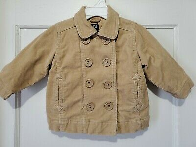 baby Gap NWT Boy/'s Brown Quilted Jacket Coat w// Corduroy