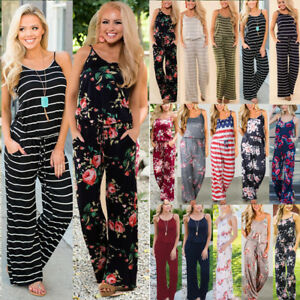 Boho-Womens-Floral-Holiday-Long-Playsuits-Dress-Summer-Beach-Jumpsuit-Plus-Size