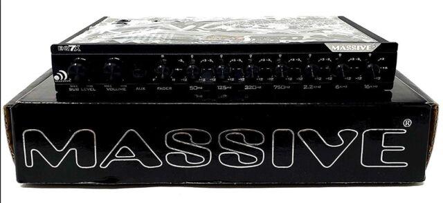 Massive Audio Eq7x 7 Band In Dash Graphic Equalizer W 8v Line Driver Aux In New