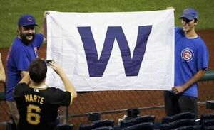 NEW-Chicago-Cubs-WIN-Flag-3x5-feet-with-Grommets-Cubs-W-Flag