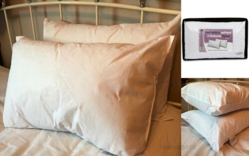 Pack of 2 4 /& 8 Luxury Hotel Pillows Superbounce High Quality Percale Cover