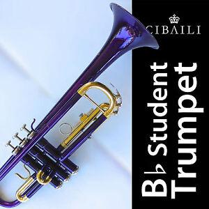 Blue-Bb-CIBAILI-Trumpet-High-Quality-Brand-New-With-Case