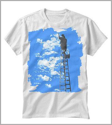Costante T-shirt Uomo Donna Banksy Arte Writer Street Art Pittura Cielo Gen0523 Fissare I Prezzi In Base Alla Qualità Dei Prodotti