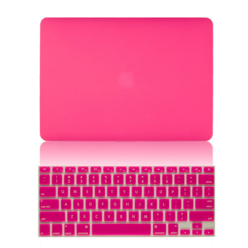 """Rubberized Hard Shell Case Cover Keyboard MacBook Pro 13//15 Air 11//13 Retina 12/"""""""
