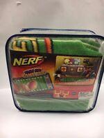 Nerf Jumbo Fun Game Rug Football Vintage 32x58