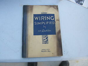 wiring simplified by h p richter vintage book ebay rh ebay com Basic Electrical Wiring Diagrams Home Wiring Basics with Illustrations