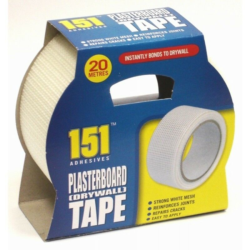 Adhesives Plasterboard Tape Strong White Mesh Reinforces Joints Repairs Cracks