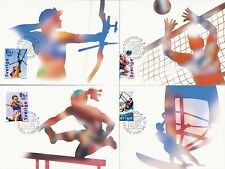 Sweden 2000 FDC - Maxi Card no 153 -156 - 4 Cards - The Olympic Games in Sydney