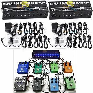 2 set caline guitar effect pedal power supply 10 isolated output cables 9 12 18v ebay. Black Bedroom Furniture Sets. Home Design Ideas
