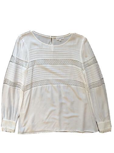 Claudie Pierlot White Lace Panel Long Sleeve Blous