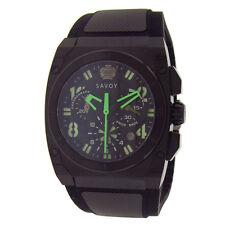 Savoy Icon Midway Chronograph Black PVD Rubber Black Men's Watch B2202C.02C.RB08