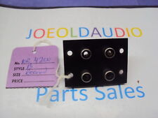 Kenwood KR-4200 Original RCA Input Panel. Record B. Tested. Parting Out K 4200.