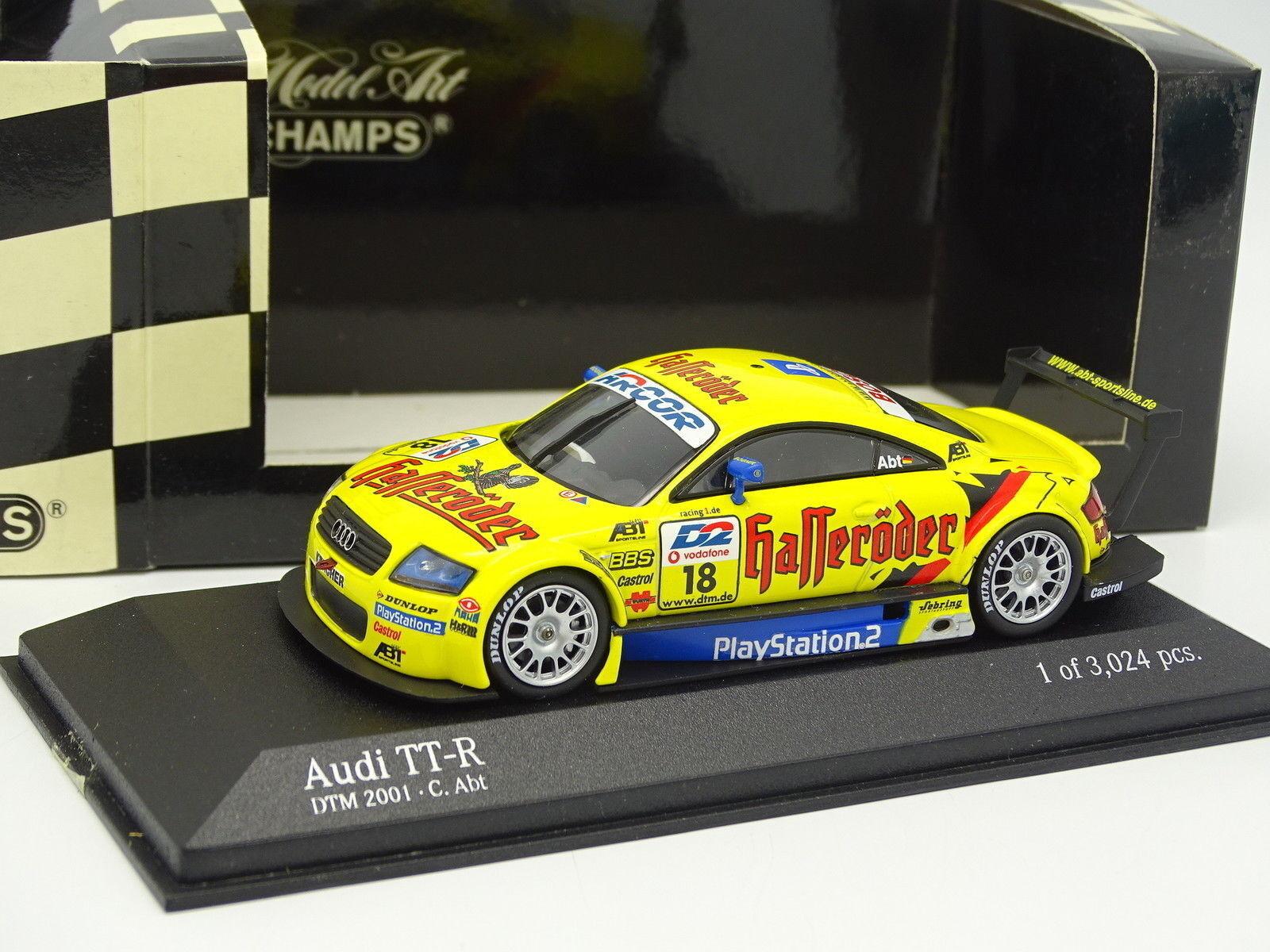 Con 100% de calidad y servicio de% 100. Minichamps 1 43 43 43 - Audi Tt-r DTM 2001 Team Abt Abt N° 18  perfecto