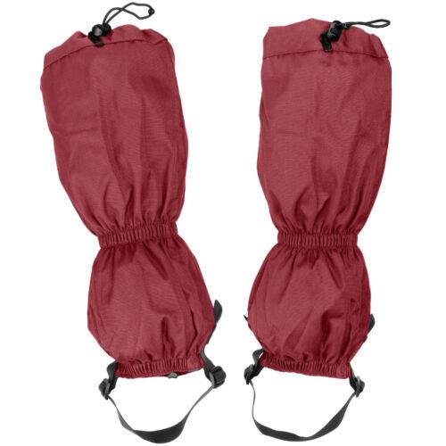 Highlander Xtp Ripstop Walking Gaiters Waterproof Trekking Snow Boot Cover Red