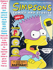 The Simpsons Comic and Stories Issue #1 W/POSTER FACTORY SEALED