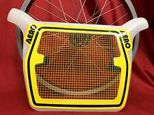 100% NOS BMX oldschool original packed rare AERO race TECH MESH plate panel gelb