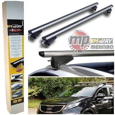 M-Way Lockable Aluminium 120cm Car Roof Rack Cross Rail Bars to fit Kia Niro 16/>